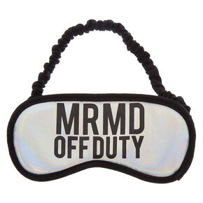 Holographic MRMD OFF DUTY Sleeping Mask,