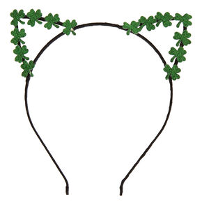 St. Patrick's Day Shamrock Cat Ears Headband,