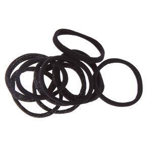 Black Glitter Rolled Hair Ties,
