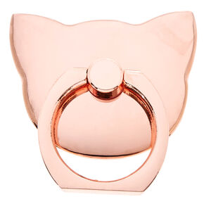 Rose Gold Cat Ring Stand,