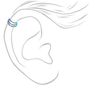 Metallic Ombre Triple Band Ear Cuff,