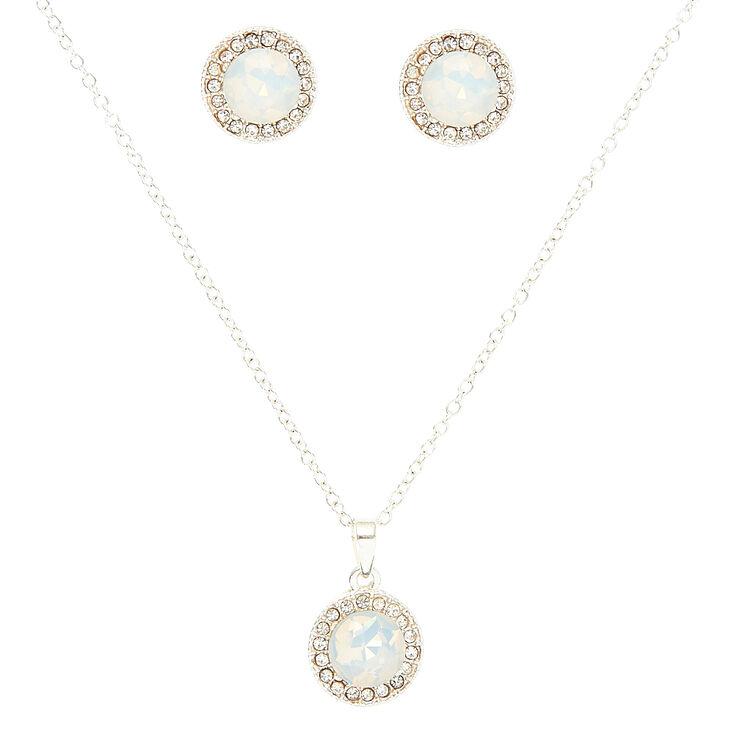 Opal Pave Jewelry Set,