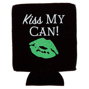 Black Kiss My Can Drink Koozie,