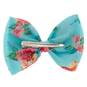 Floral Mint Bow Hair Clip,