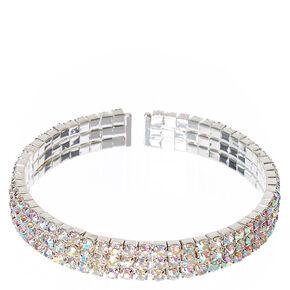 Iridescent Crystal Cuff Bracelet,