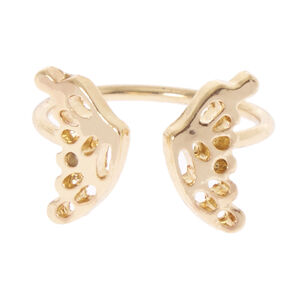 Gold-Tone Butterfly Ring Wrap,