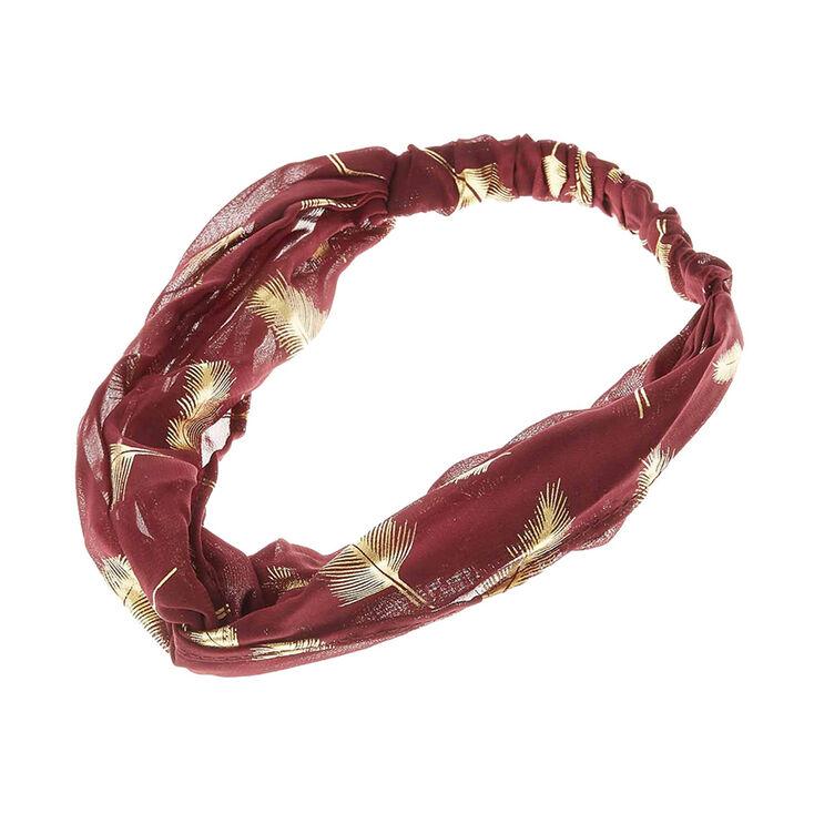 Burgundy & Gold Lead Headwrap,