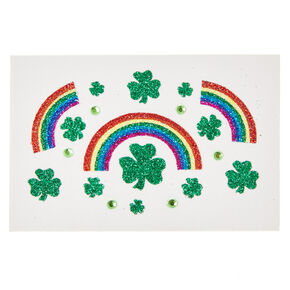 St. Patrick's Day Glitter Face Stickers,