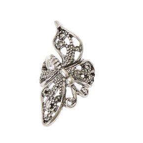 Silver-tone Filigree Butterfly Ear Cuff,
