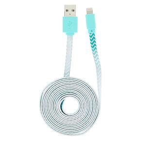 Mint Chevron Ombre USB Cord,
