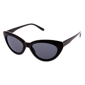 Black Retro Cat Eye Sunglasses,