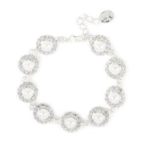 Pearl & Rhinestone Pavé Circles Bracelet,