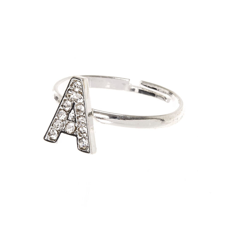"""A"" Initial Adjustable Ring,"