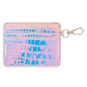 Faux Leather Snake Skin Holographic ID Holder,