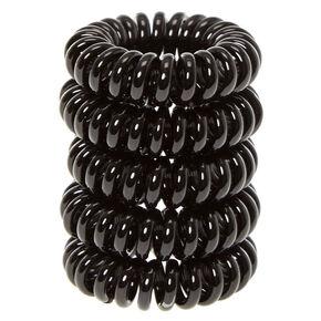 Mini Black Coiled Hair Ties,