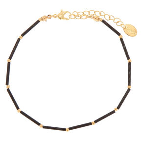 Black Banana Bead Anklet,