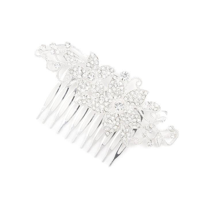 Pavé Crystal Flowers & Vines Hair Comb,