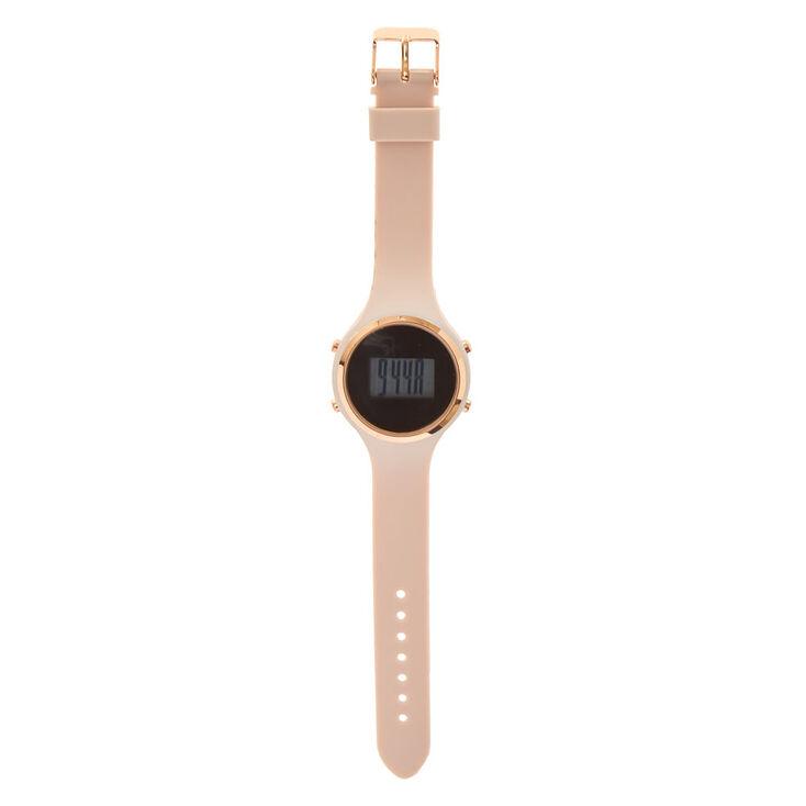 Mauve Silicone Digital Watch,