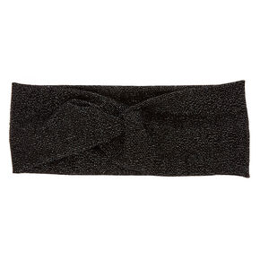 Wide Jersey Lurex Black Headwrap,
