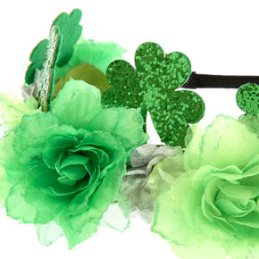 St. Patricks's Day Green Flower Crown,