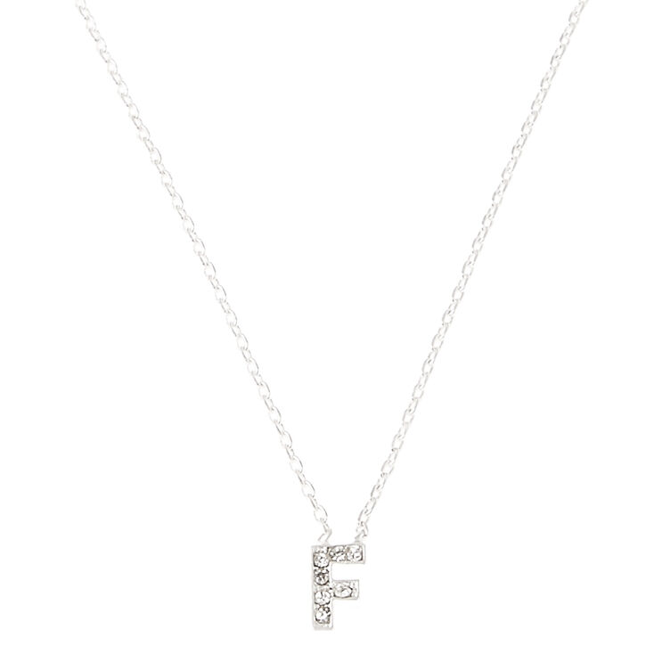 """""""F"""" Pendant Initial Necklace,"""
