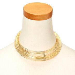 Gold-Tone Slinky-Style Necklace,