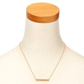 Gold-Tone FUTURE MRS Bar Necklace,