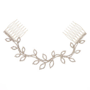 Silver-tone and Faux Crystal Vine Hair Swag,