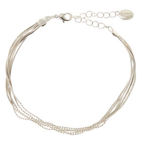 Silver Multi Chain Anklet,