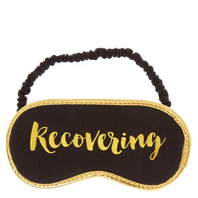 Recovering Gold & Black Sleeping Mask,
