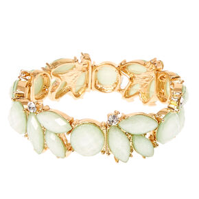 Mint Flower Stretch Bracelet,
