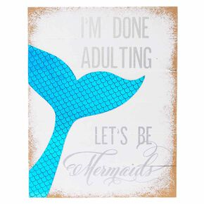 Let's Be Mermaids Wall Art,
