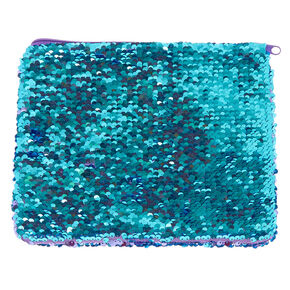 Purple to Turquoise Magic Seguin Makeup Bag,