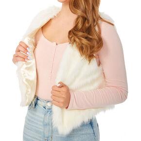 Ivory Faux Fur Vest,