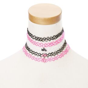 Valentine Tattoo Chokers 5 Pack,