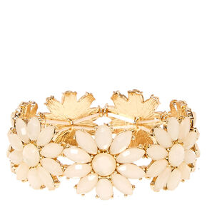 Ivory Flower Stretch Bracelet,