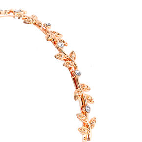 Rose Gold Stone Vine Headband,