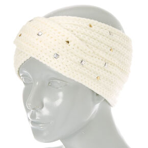 Ivory Cold Weather Bling Headwrap,