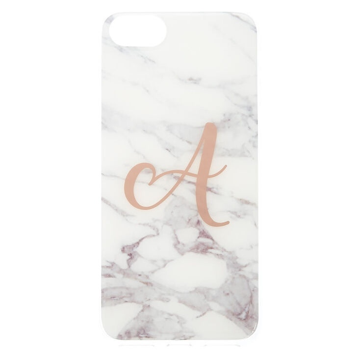 """Marbled """"A"""" Initial Phone Case,"""