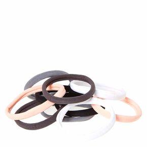 Pink & Gray Rolled Hair Ties,