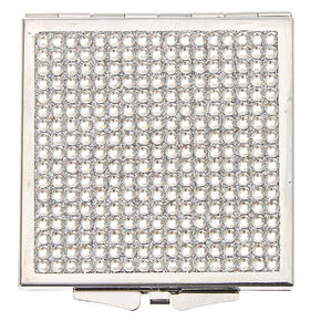 Silver Bling Compact Mirror,