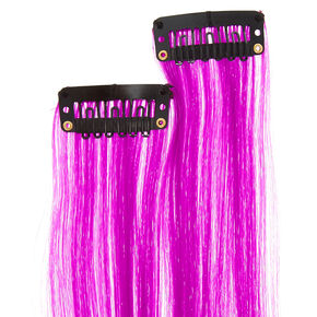 Purple Faux Hair Clips,