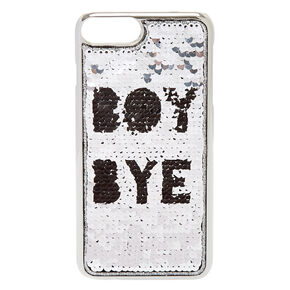 Boy Bye Reverse Sequin Phone Case,