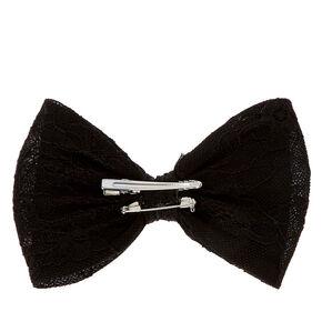Black Floral Lace Bow Hair Clip,