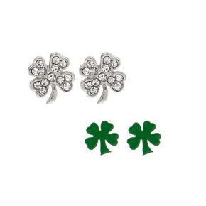 2 Pack St. Patrick's Day Shamrock Stud Earrings,
