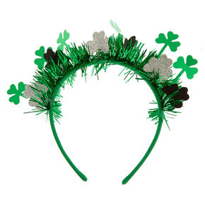 St. Patrick's Day Tinsel Headband,