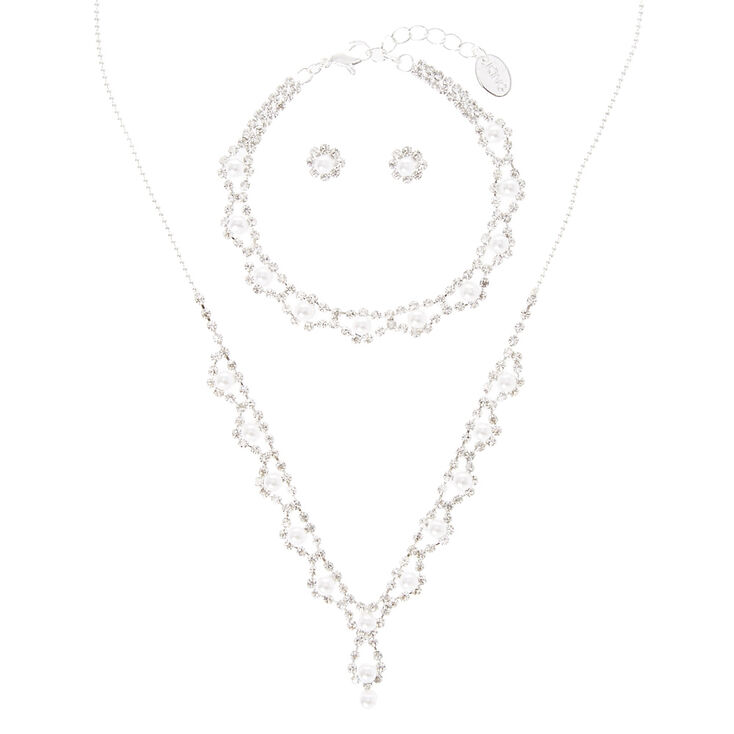3 Piece Pearl & Crystal Set,