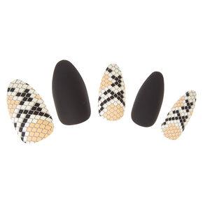 Snake Skin Faux Nails,