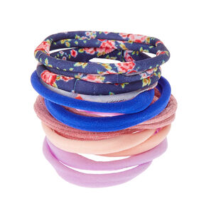 Floral Mix Rolled Hair Ties,