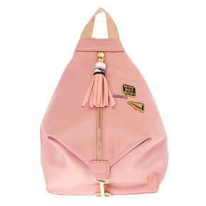 Mini Satin Blush Pink Backpack,